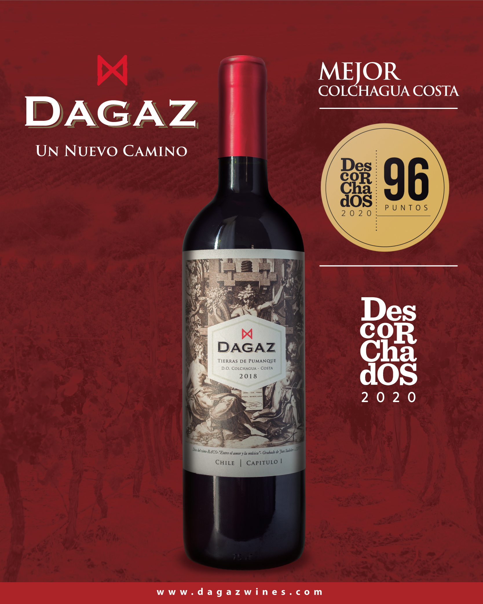 96 points for Tierras de Pumanque 2018 in Descorchados Guide